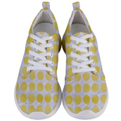 Circles1 White Marble & Yellow Watercolor (r) Men s Lightweight Sports Shoes