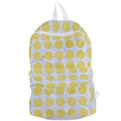 Circles1 White Marble & Yellow Watercolor (r) Foldable Lightweight Backpack