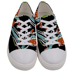 Multicolor Abstract Design Women s Low Top Canvas Sneakers
