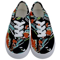 Multicolor Abstract Design Kids  Classic Low Top Sneakers