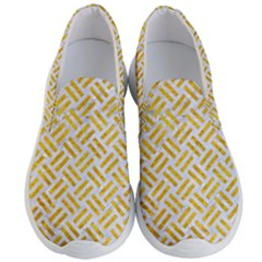 Woven2 White Marble & Yellow Marble (r) Men s Lightweight Slip Ons