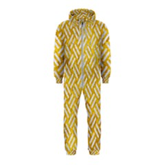 Woven2 White Marble & Yellow Marble Hooded Jumpsuit (kids)