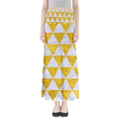 Triangle3 White Marble & Yellow Marble Full Length Maxi Skirt