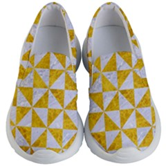 Triangle1 White Marble & Yellow Marble Kid s Lightweight Slip Ons