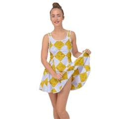 Square2 White Marble & Yellow Marble Inside Out Dress