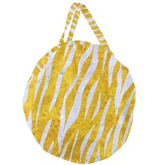 Skin3 White Marble & Yellow Marble Giant Round Zipper Tote