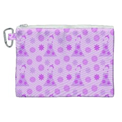 Purple Dress Canvas Cosmetic Bag (xl)
