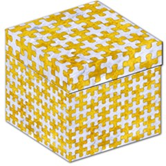 Puzzle1 White Marble & Yellow Marble Storage Stool 12