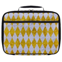 Diamond1 White Marble & Yellow Marble Full Print Lunch Bag