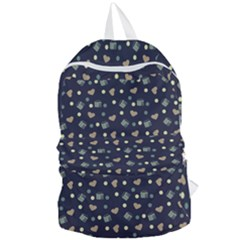 Blue Milk Hearts Foldable Lightweight Backpack