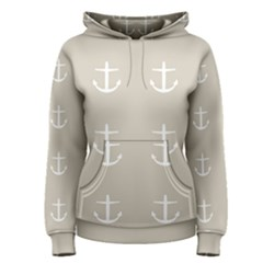 Lt Grey Anchors Women s Pullover Hoodie