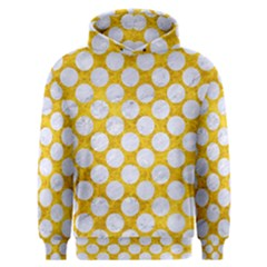Circles2 White Marble & Yellow Marble Men s Overhead Hoodie