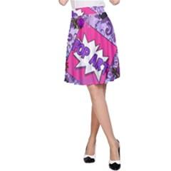 Purple Retro Pop A Line Skirt