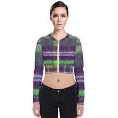 Neon Green Plaid Flannel Bomber Jacket