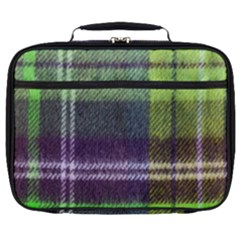Neon Green Plaid Flannel Full Print Lunch Bag