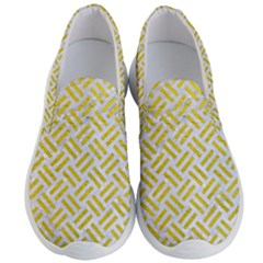 Woven2 White Marble & Yellow Leather (r) Men s Lightweight Slip Ons