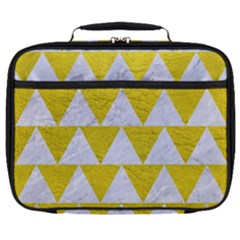 Triangle2 White Marble & Yellow Leather Full Print Lunch Bag