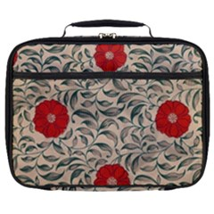 Japanese Floral Red Full Print Lunch Bag