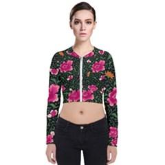 Pink Japan Floral Bomber Jacket
