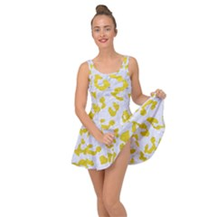 Skin5 White Marble & Yellow Leather Inside Out Dress