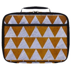 Triangle2 White Marble & Yellow Grunge Full Print Lunch Bag
