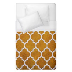 Tile1 White Marble & Yellow Grunge Duvet Cover (single Size)