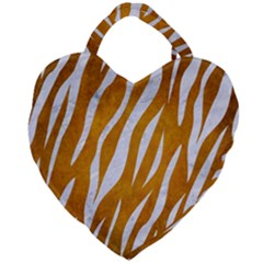 Skin3 White Marble & Yellow Grunge Giant Heart Shaped Tote