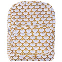 Scales3 White Marble & Yellow Grunge (r) Full Print Backpack