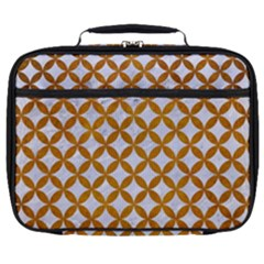 Circles3 White Marble & Yellow Grunge (r) Full Print Lunch Bag