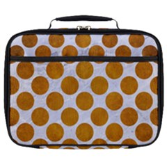 Circles2 White Marble & Yellow Grunge (r) Full Print Lunch Bag