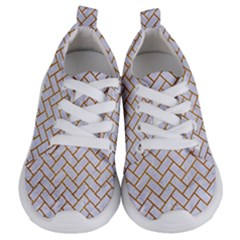 Brick2 White Marble & Yellow Grunge (r) Kids  Lightweight Sports Shoes