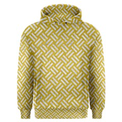Woven2 White Marble & Yellow Denim Men s Overhead Hoodie