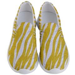 Skin3 White Marble & Yellow Denim Men s Lightweight Slip Ons