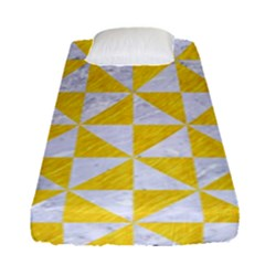 Triangle1 White Marble & Yellow Colored Pencil Fitted Sheet (single Size)