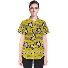 Bikers Out Singing In Spring Time Women s Short Sleeve Shirt