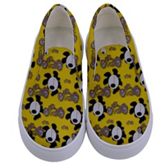 Bikers Out Singing In Spring Time Kids  Canvas Slip Ons