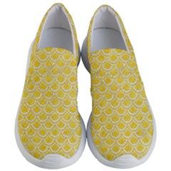 Scales2 White Marble & Yellow Colored Pencil Women s Lightweight Slip Ons
