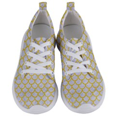 Scales1 White Marble & Yellow Colored Pencil (r) Women s Lightweight Sports Shoes
