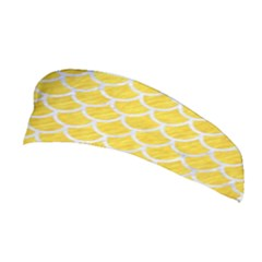 Scales1 White Marble & Yellow Colored Pencil Stretchable Headband