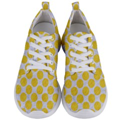 Circles2 White Marble & Yellow Colored Pencil (r) Men s Lightweight Sports Shoes