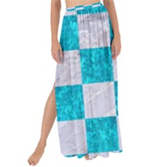 Square1 White Marble & Turquoise Marble Maxi Chiffon Tie Up Sarong