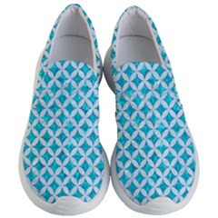 Circles3 White Marble & Turquoise Marble Women s Lightweight Slip Ons