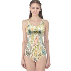 Decorative  Seamless Pattern One Piece Swimsuit