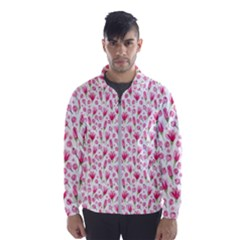 Watercolor Spring Flowers Pattern Wind Breaker (men)