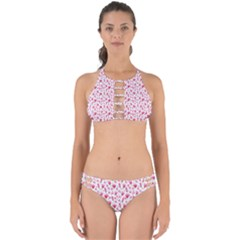 Watercolor Spring Flowers Pattern Perfectly Cut Out Bikini Set