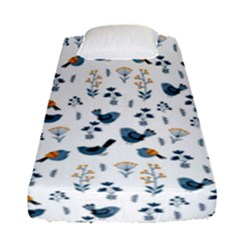 Spring Flowers And Birds Pattern Fitted Sheet (single Size)