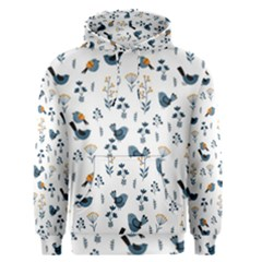 Spring Flowers And Birds Pattern Men s Pullover Hoodie