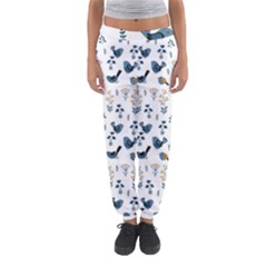 Spring Flowers And Birds Pattern Women s Jogger Sweatpants