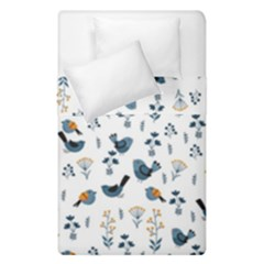 Spring Flowers And Birds Pattern Duvet Cover Double Side (single Size)