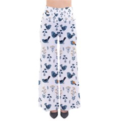 Spring Flowers And Birds Pattern Pants